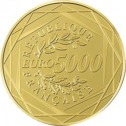France 2015. 5000 euro. Coq