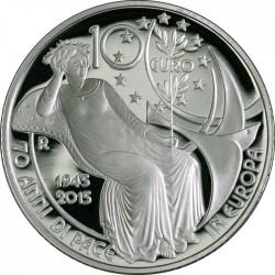 Italy 2015. 10 euro. 70 Peace Europa