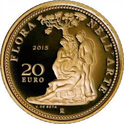 Italy 2015. 20 euro. flora