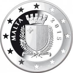 Malta 2015. 10 euro. Bush-Gorbachev Malta Summit
