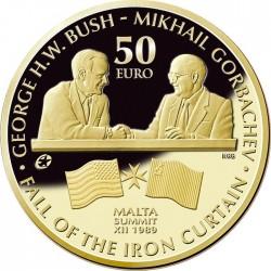Malta 2015. 50 euro. Bush-Gorbachev Malta Summit