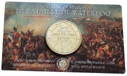 Belgium 2015. 2.5 euro. Waterloo in Сoincard