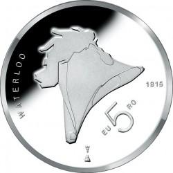 Netherlands 2015. 5 euro. Waterloo. Ag 925