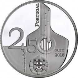 Portugal 2015. 2.5 euro. Fado. Ag 925