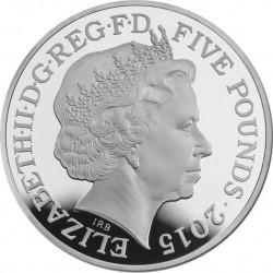 UK 2015. 5 pounds. Waterloo. Cu-Ni