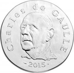 France 2015. 10 euro. Charles de Gaulle