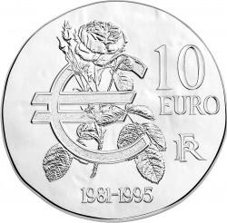 France 2015. 10 euro. Mitterrand