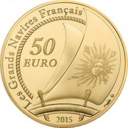 France 2015. 50 euro. Au 920. Soleil Royal
