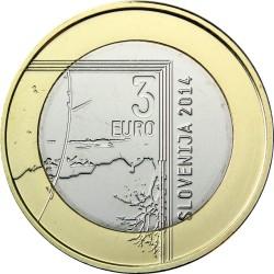Slovenia 2014. 3 euro. Janez Puhar