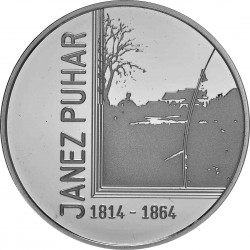 Slovenia 2014. 30 euro. Janez Puhar