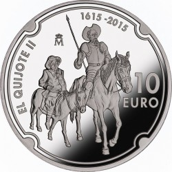 Spain 2015. 10 euro. Don Quijote