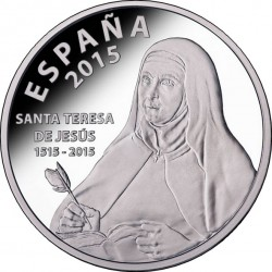Spain 2015. 10 euro: 500th Anniversary of Saint Teresa of Jesus