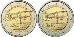 2 euro Malta 2015 Flight