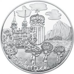 10 евро «Верхняя Австрия» (Ag 925), реверс