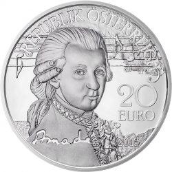 20 евро «Амадей - гений», аверс