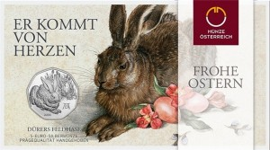 Austria 2016 5 euro feldhase