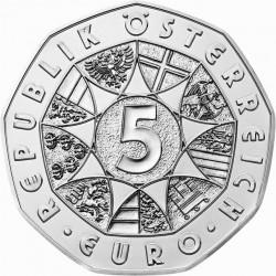 """5 евро «Рисунок Альбрехта Дюрера """"Заяц""""» (Ag 800), аверс"""