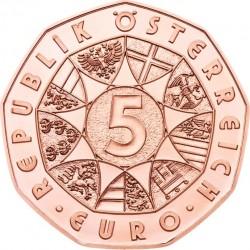 """5 евро «Рисунок Альбрехта Дюрера """"Заяц""""» (Cu), аверс"""