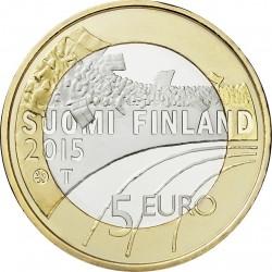 Finland 2015. 5 euro. Basketball