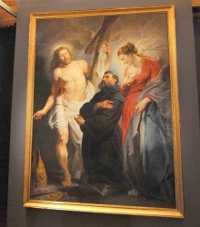 Rubens. San Agustin entre Cristo y la Virgen