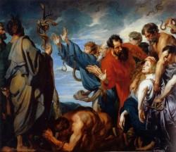 van Dyck. mozes and the brass snake 1620