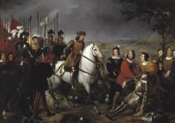 Madrazo. El Gran Capitan recorriendo el campo de la Batalla de Cerinola
