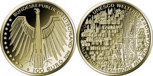 100 евро «Историческая часть города Регенсбург»