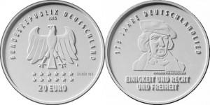 10 евро «175-летие «Песни немцев»»