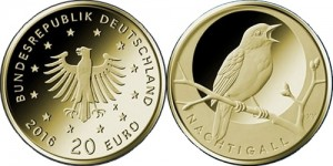 Germany 2016 20 euro Nachtigall