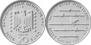 20 евро «125 лет со дня рождения Нелли Закс