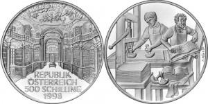 Austria 1998. 500 Schilling. Book Printing