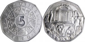Austria 2002 5 euro. Schonbrunn