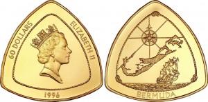 Bermuda 1996. 60 dollars. Bermuda Triangle