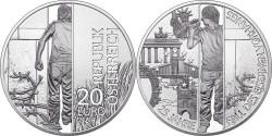 """Австрия, 10 евро, «25-летие падения """"железного занавеса""""»"""