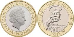 Великобритания, 2 фунта стерлинга «100-летие с начала Первой мировой войны»