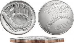 США, 0,5 доллара, «Национальный зал славы бейсбола»