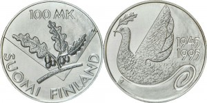 Finland 1995. 100 markkaa. 50th Anniversary UN