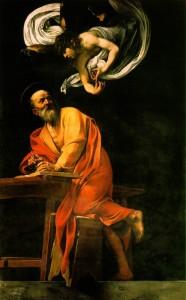 «Святой Матфей и ангел» (Караваджо, 1602 г.; Сан-Луиджи-деи-Франчези, Италия)