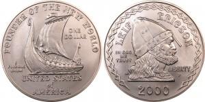 USA 2000. 1 dollar. Leifur Eiriksson