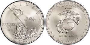 USA 2005. 1 dollar. Marine Corps