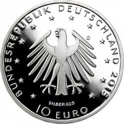 Germany 2015 10 euro. Lucas Cranach. Ag 625