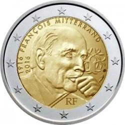2 euro France 2016 Francois Mitterrand