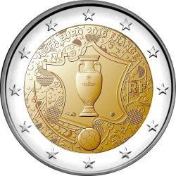 France 2016. 2 euro. football