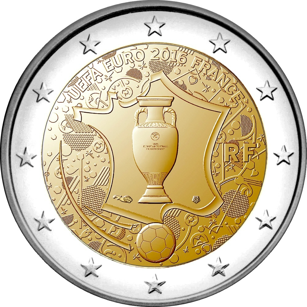 2 евро франция футбол