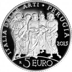 5 euro. Italy 2015. Perugia