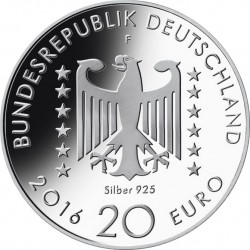 Germany 2016. 20 euro. Nelly Sachs