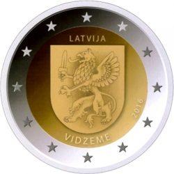 2 euro latvia 2016 vidzeme