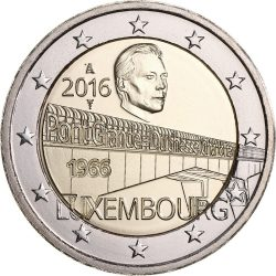 2 euro Luxemburg 2016 Grand Duchess Charlotte Bridge obv