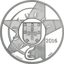 Portugal 2016. 5 euro. Modernismo. Ag 925