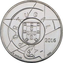 Portugal 2016. 5 euro. Modernismo. Cu-Ni